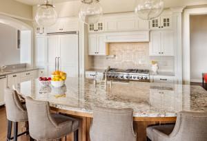 Beautiful Kitchen Detail in Luxury Home.