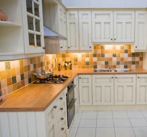 A spacious modern kitchen