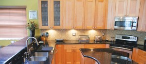 kitchen with shaker style kitchen cabinets