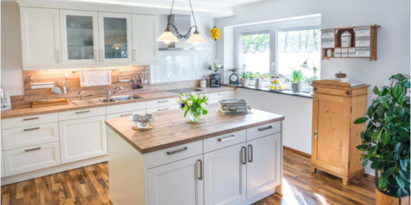 Coordinating Countertops, Cabinets, And Flooring