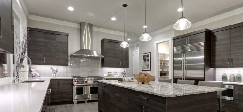Granite with Dark Cabinets